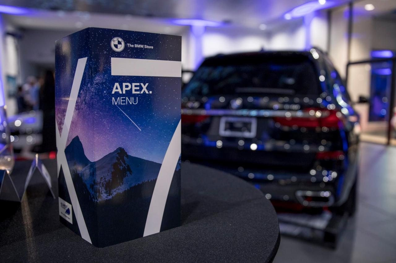 The BMW Store APEX X7 Launch Event