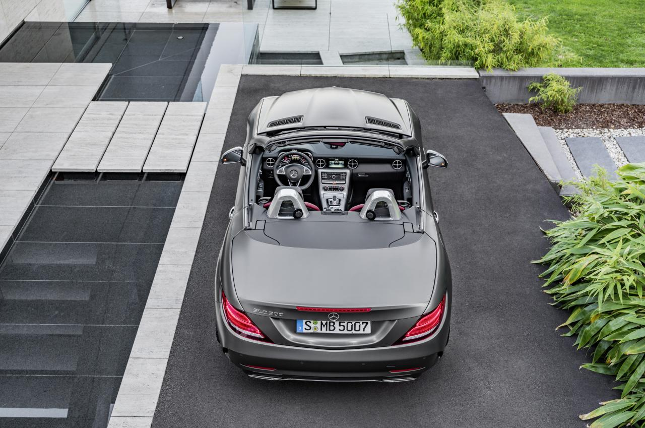 2019 mercedes-benz slc top view