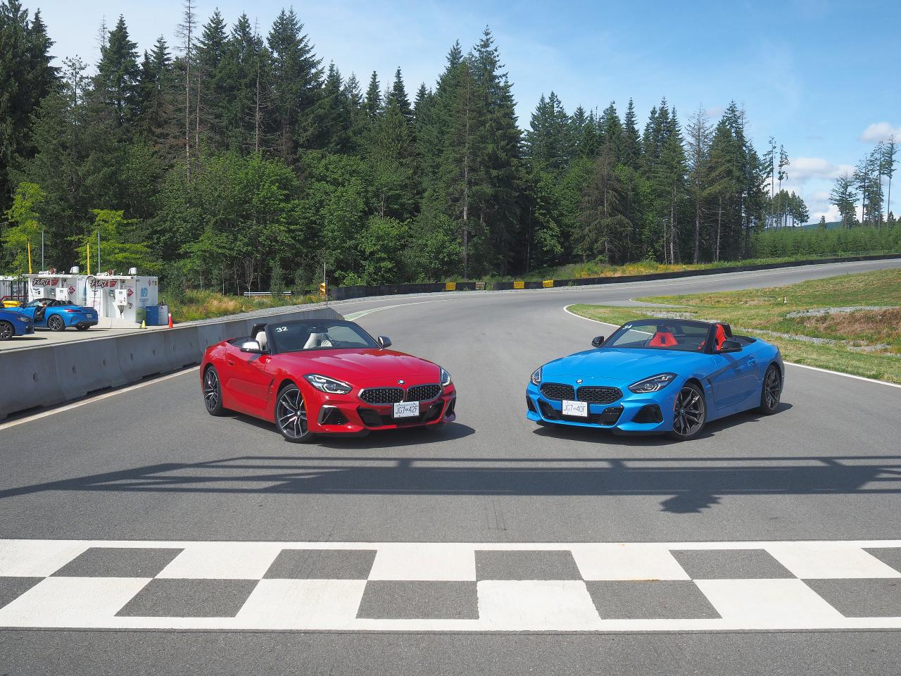 pair of 2020 bmw z4 m40i front