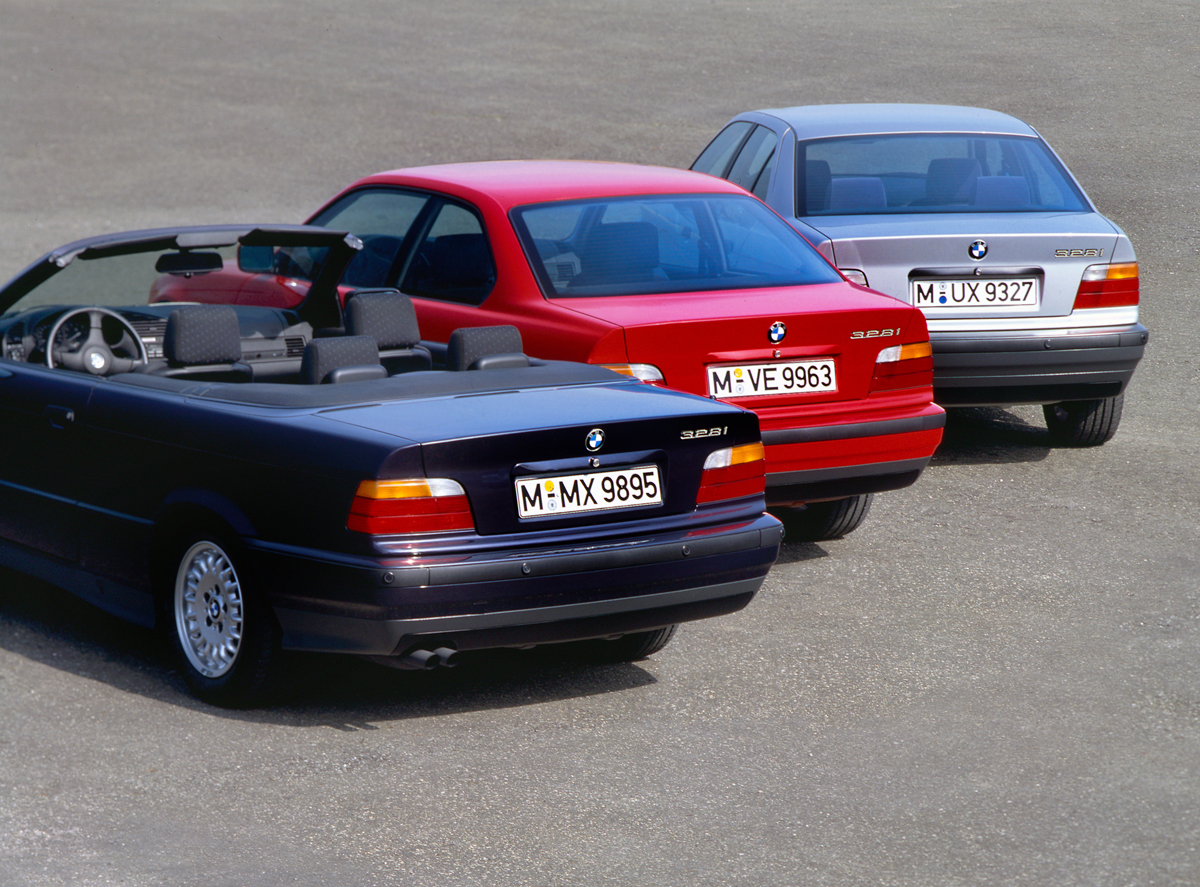 Trio of E36 BMWs